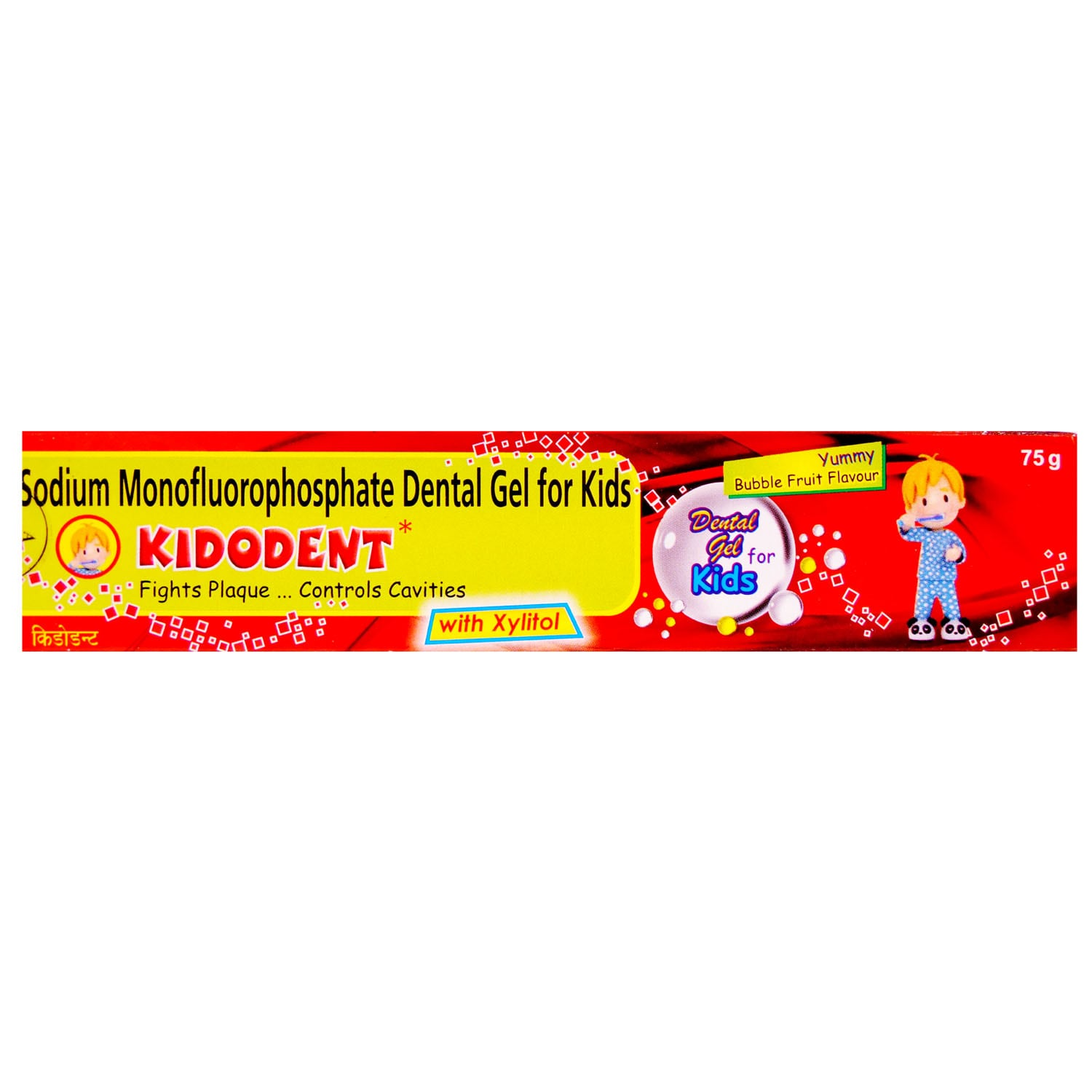 Kidodent Bubble Fruit Flavoured Kids Toothpaste, 75 gm