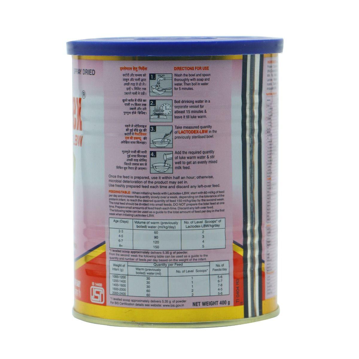 Lactodex-LBW Infant Formula, 400 gm Tin