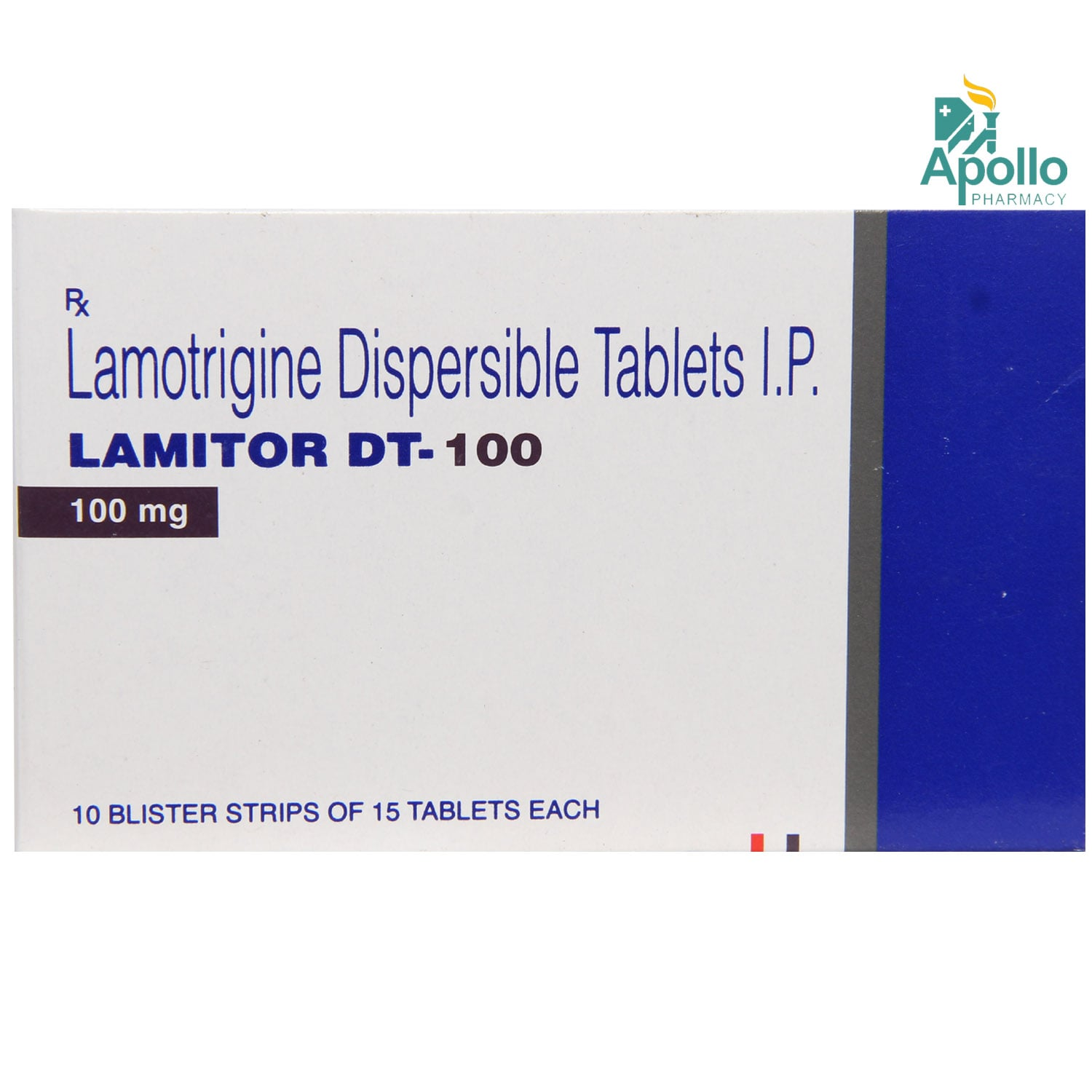 LAMITOR DT 100MG TABLET