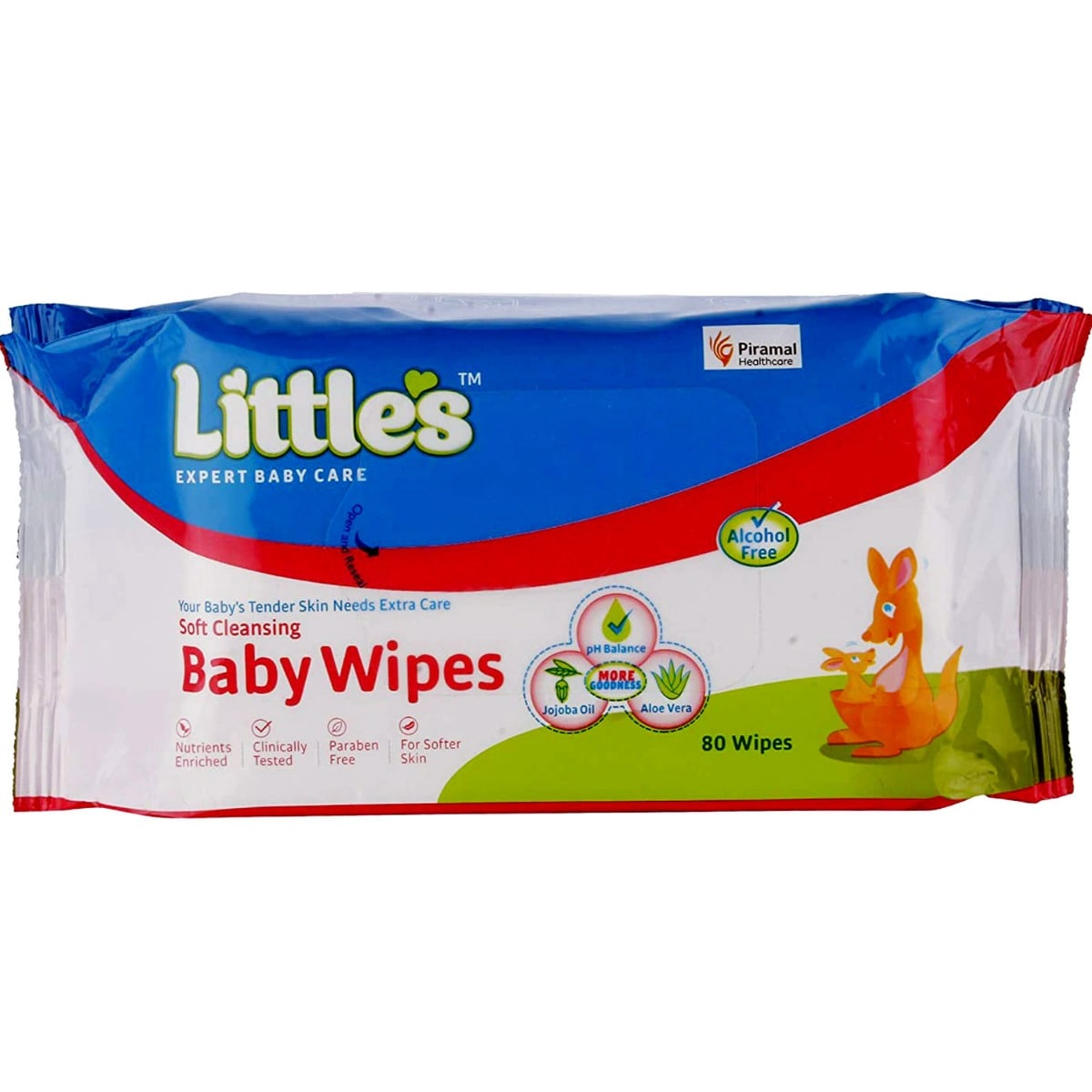 Littles Soft Cleansing Baby Wipes, 80 Count