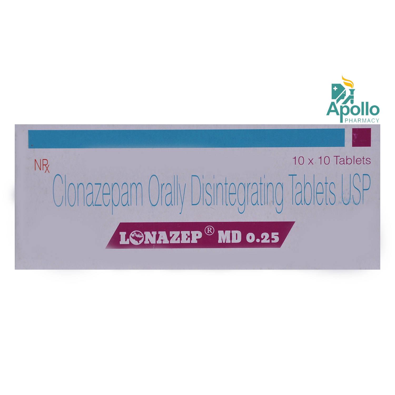 Lonazep MD 0.25 Tablet 10's