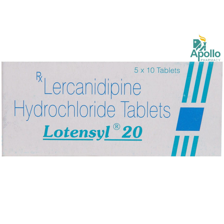 Lotensyl 20 Tablet 10's