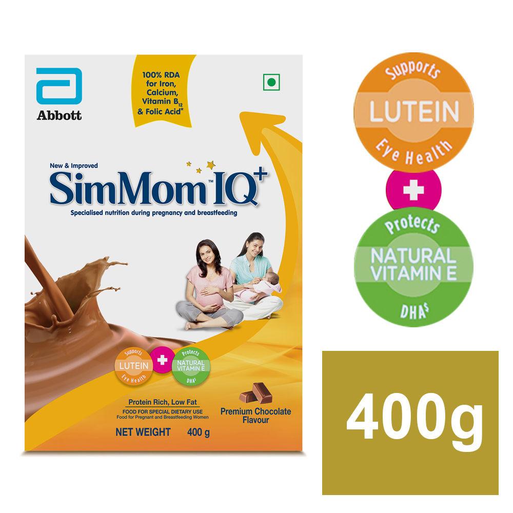 Simmom IQ+ Premium Chocolate Flavoured Powder, 400 gm Refill Pack
