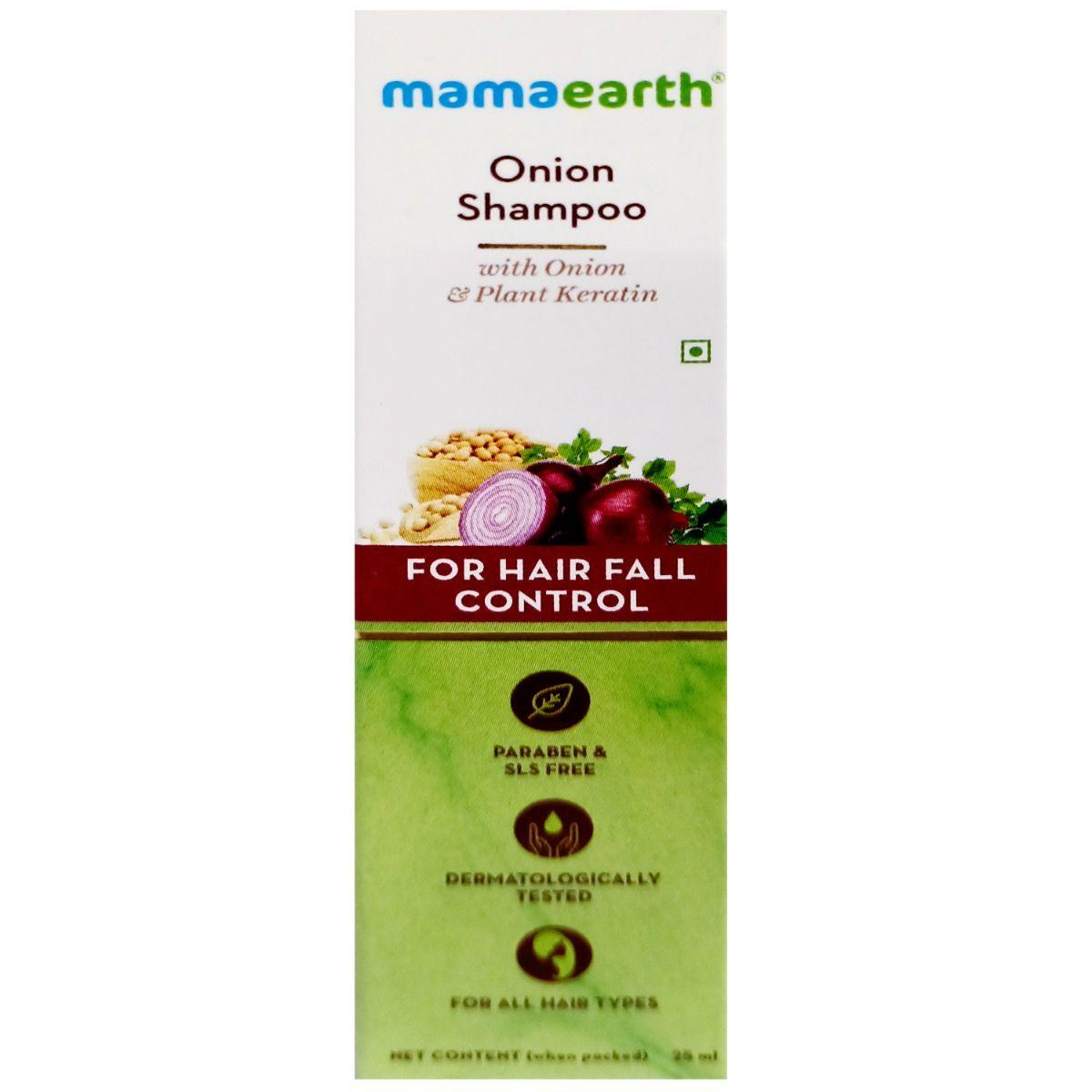 Mamaearth Onion Shampoo For Hair Fall Control, 25 ml