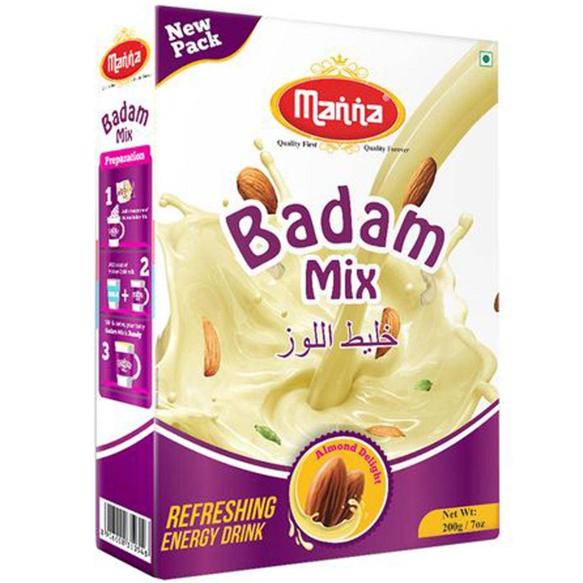 Manna Badam Mix Instant Refreshing Energy Drink, 200 gm