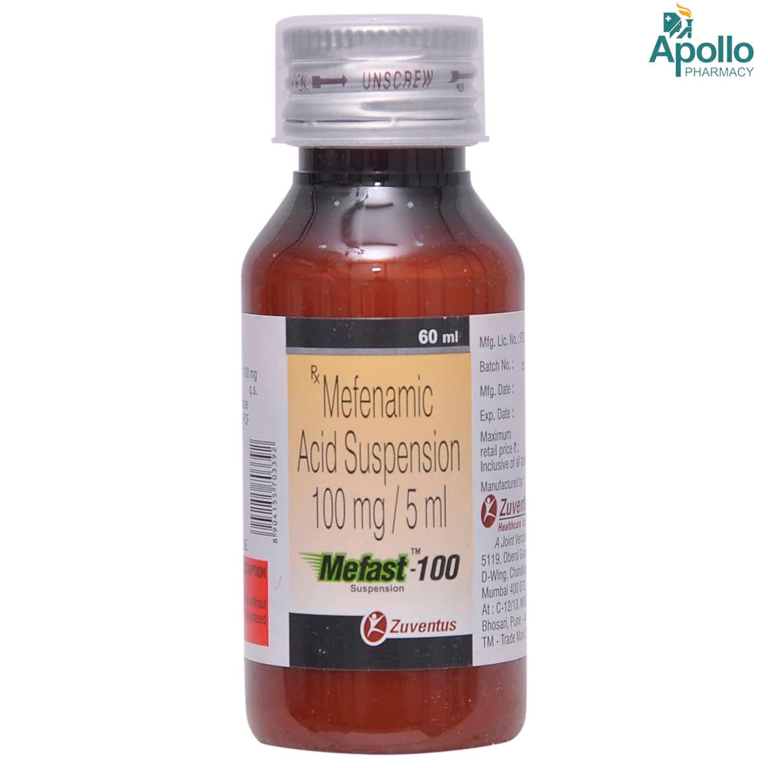 MEFAST 100MG SYRUP 60ML