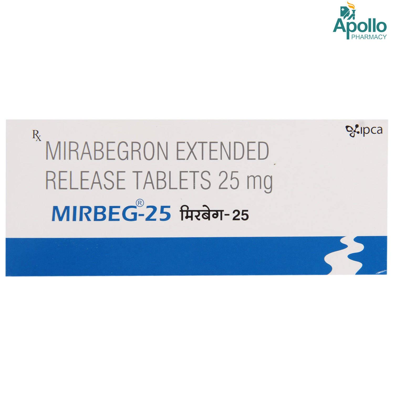MIRBEG 25MG ER TABLET 10'S