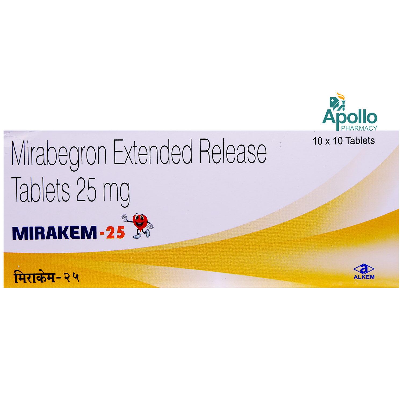 MIRAKEM 25MG ER TABLET 10'S