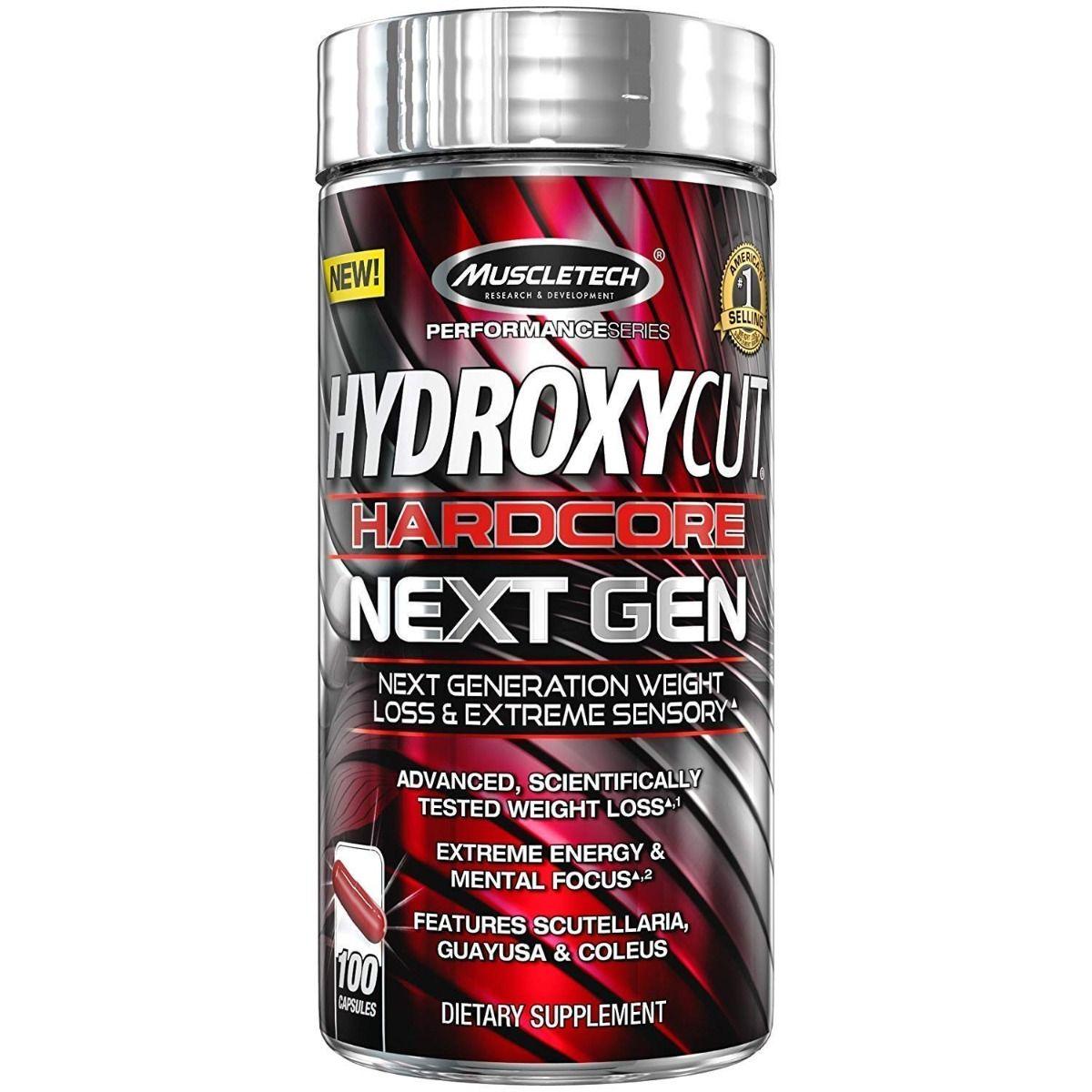 Muscletech Hydroxycut Hardcore Next Gen, 100 Capsules