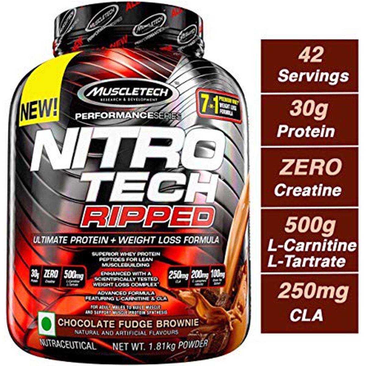 Muscletech Nitrotech Ripped Chocolate Fudge Brownie 4 lb