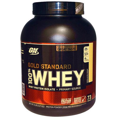 Optimum Nutrition Gold Standard 100% Whey Protein Powder Vanilla Ice Cream Flavour 5lb