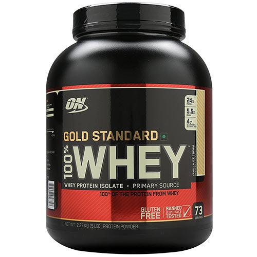 Optimum Nutrition 100% Whey Gold Standard Vanilla Ice Cream 5 lbs