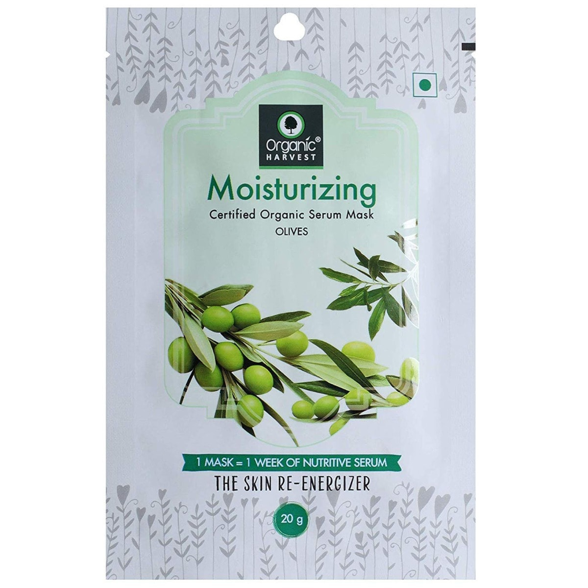 Organic Harvest Moisturizing Serum Mask, 20 gm
