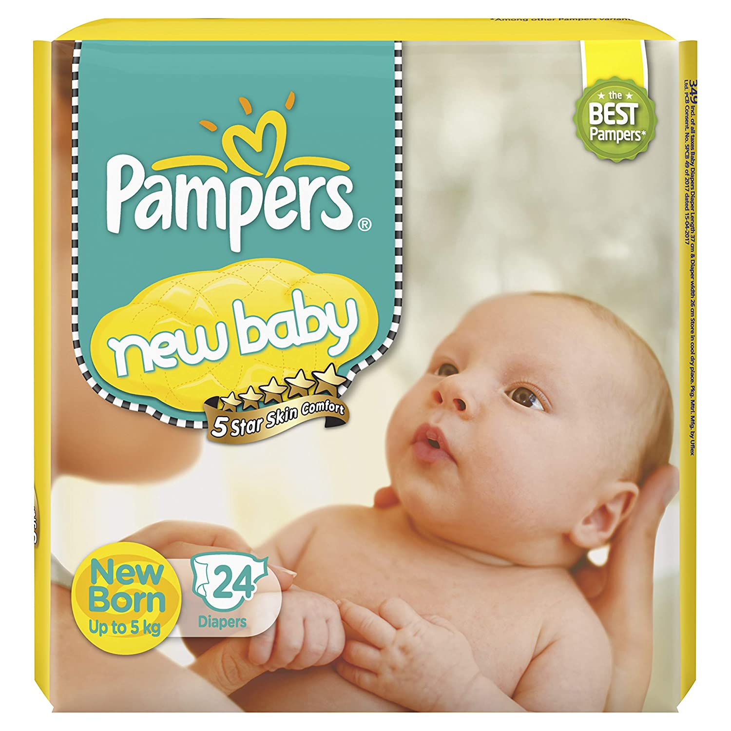 Pampers New Baby Diapers, 24 Count