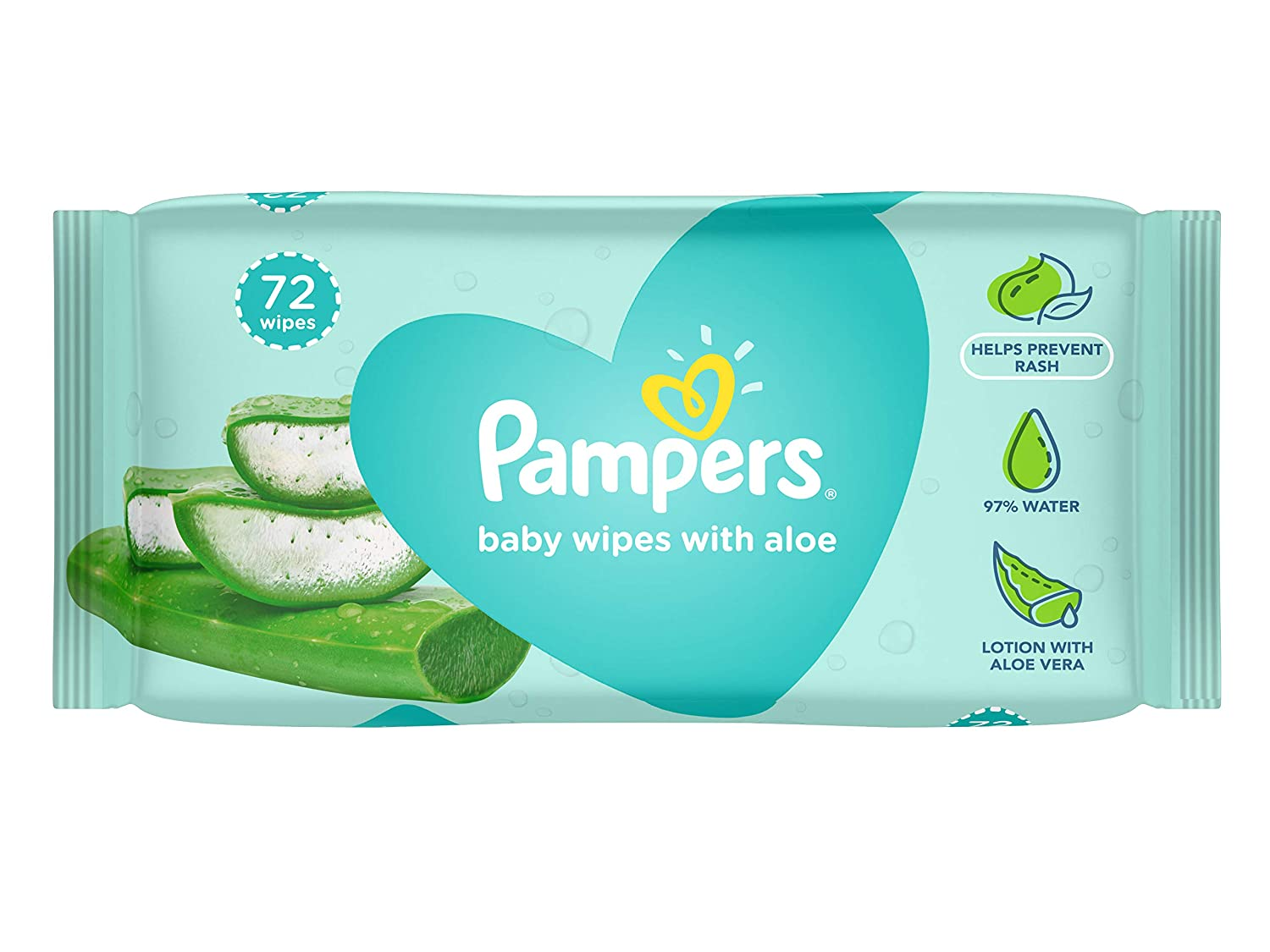 Pampers Aloe Baby Wipes, 72 Count