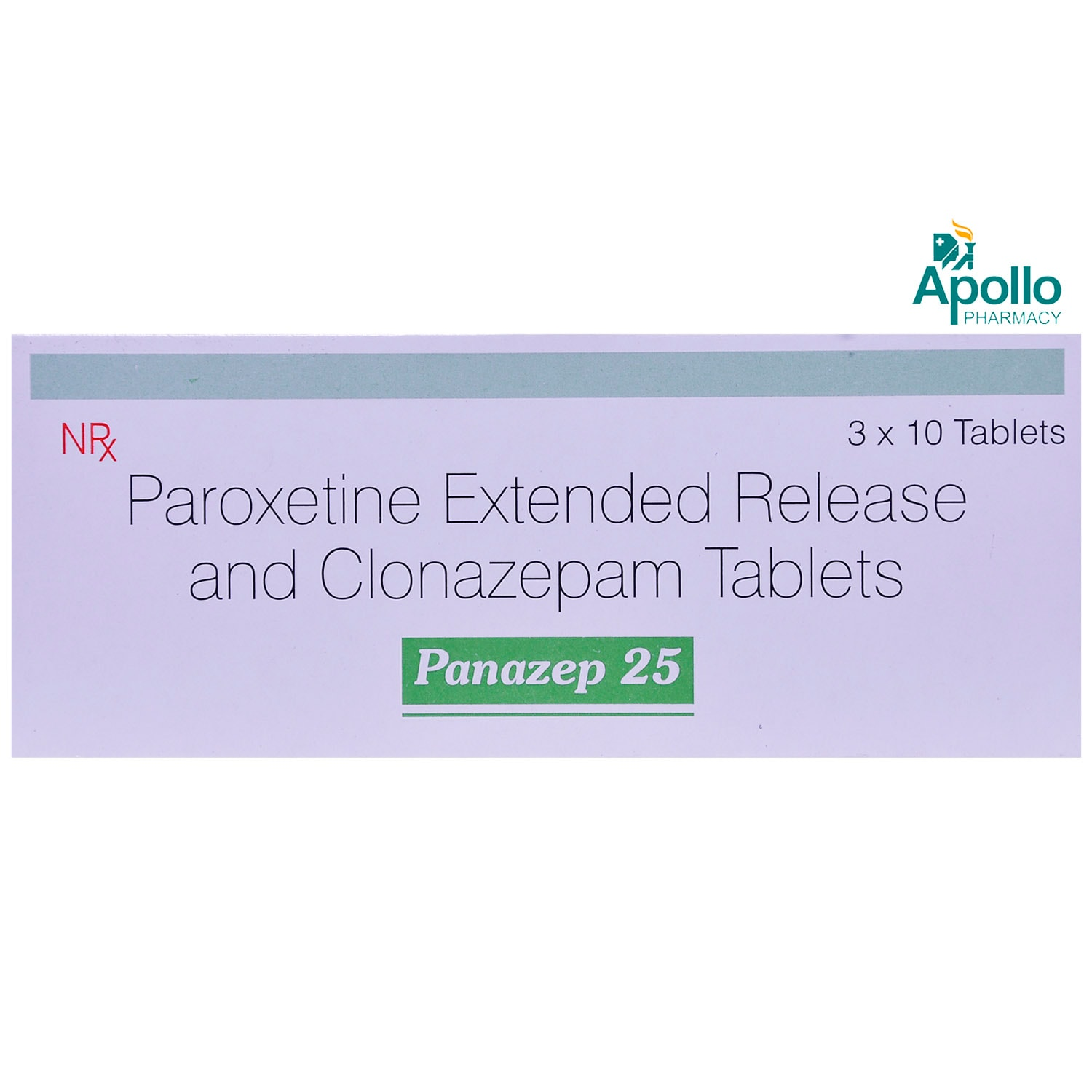 Panazep 25 Tablet 10's