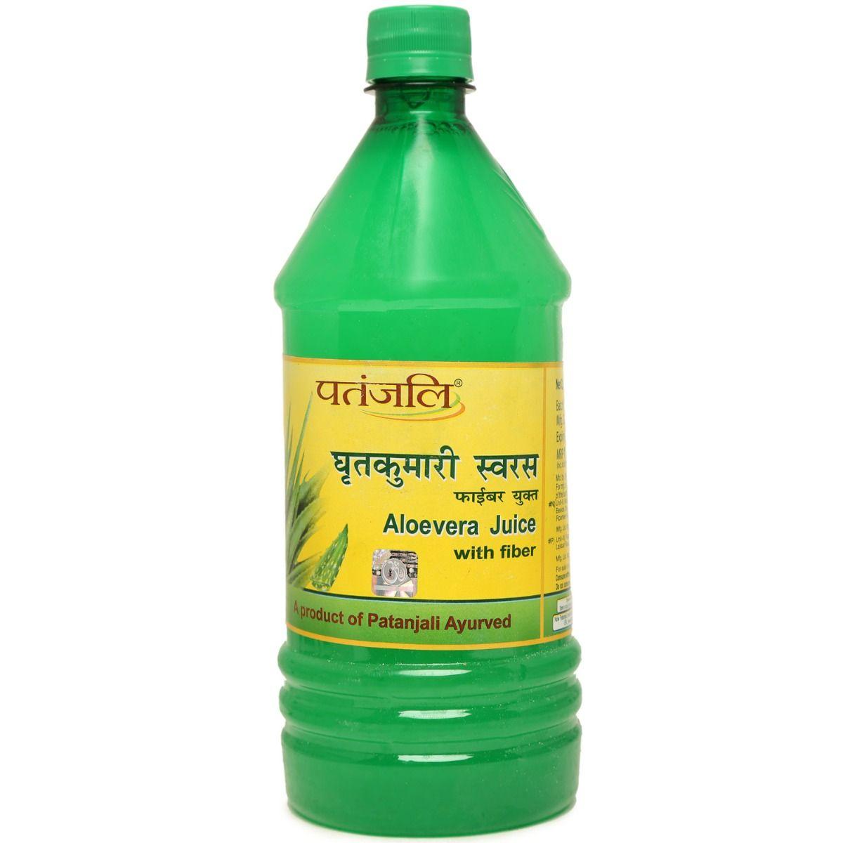 Patanjali Aloe Vera Juice with Fiber, 1 Litre