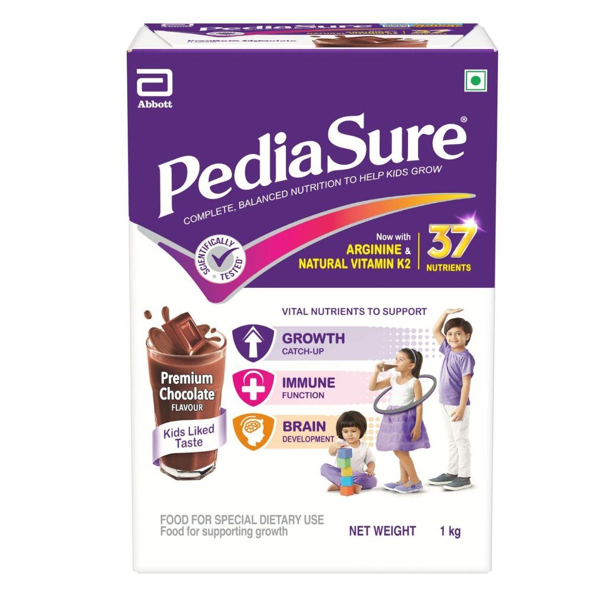 Pediasure Premium Chocolate Flavoured Kids Nutrition Drink,  1 Kg Refill Pack