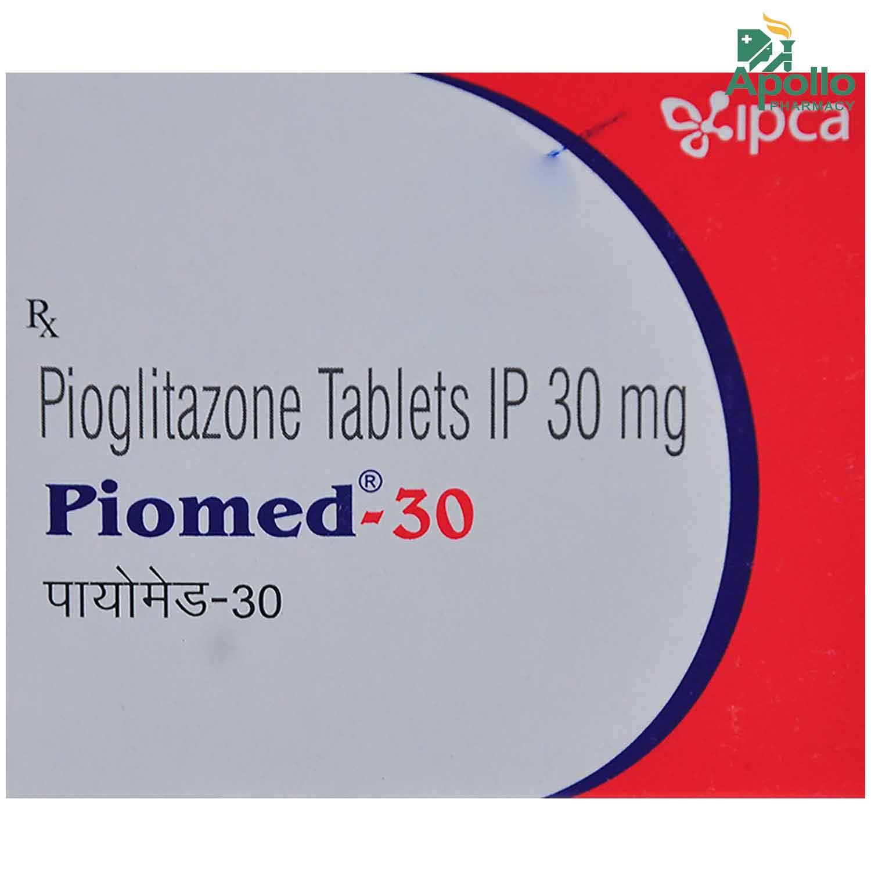 Piomed-30 Tablet 10's
