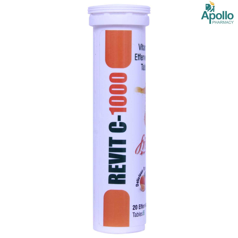 Revit C-1000 Sugar Free Orange Effervescent Tablet 20's