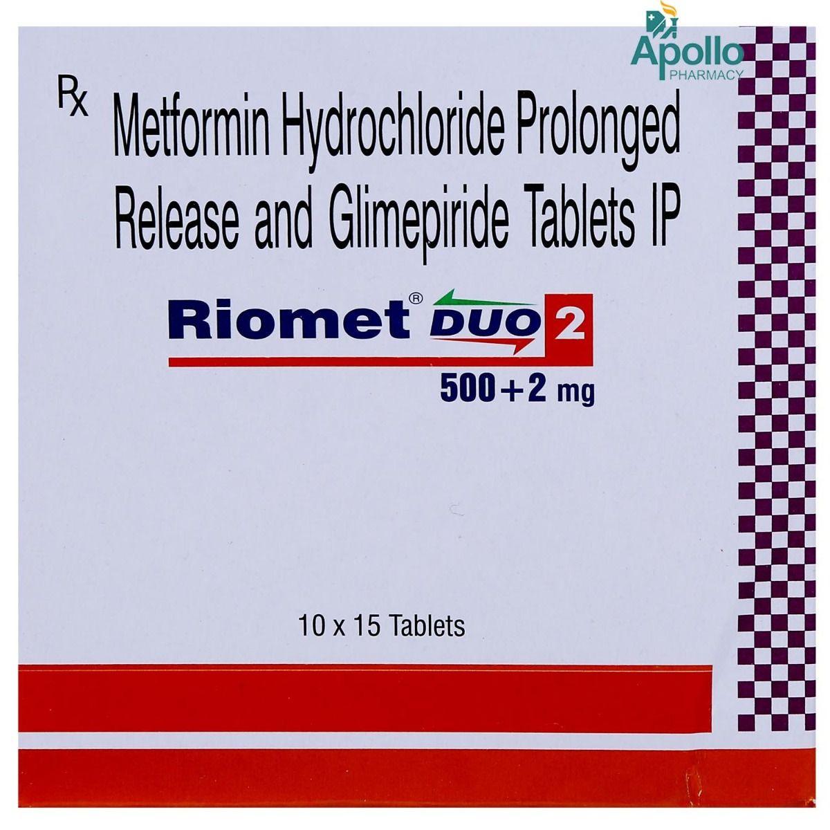 Riomet DUO 2 Tablet 15's