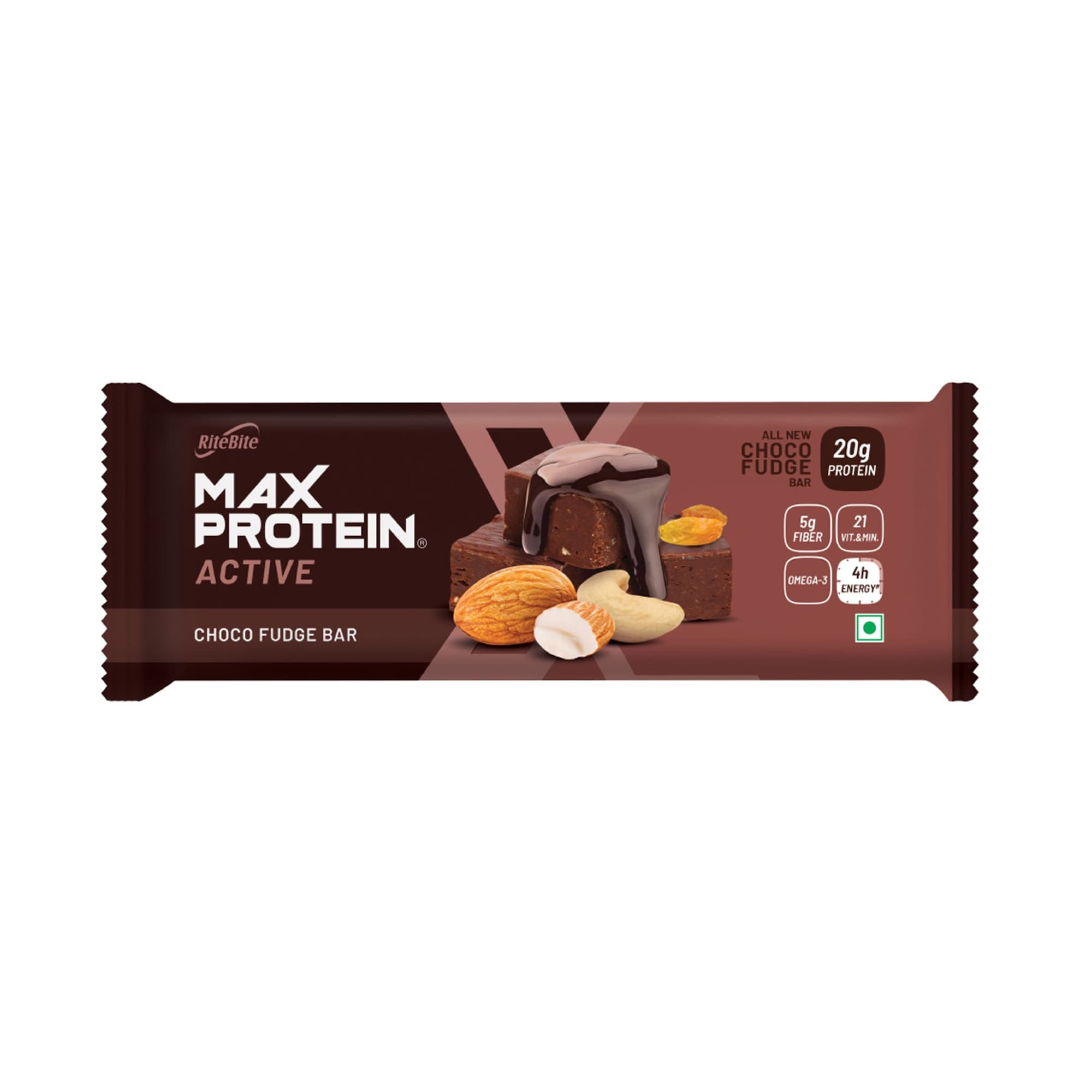 RiteBite Max Protein Active Choco Fudge Bar, 75 gm