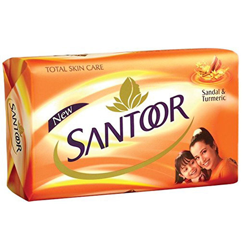 Santoor Sandal & Turmeric Soap, 150 gm