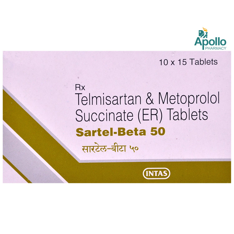 Sartel-Beta 50 Tablet 15's