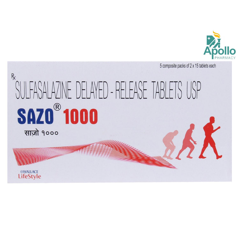 Sazo 1000 Tablet 15's