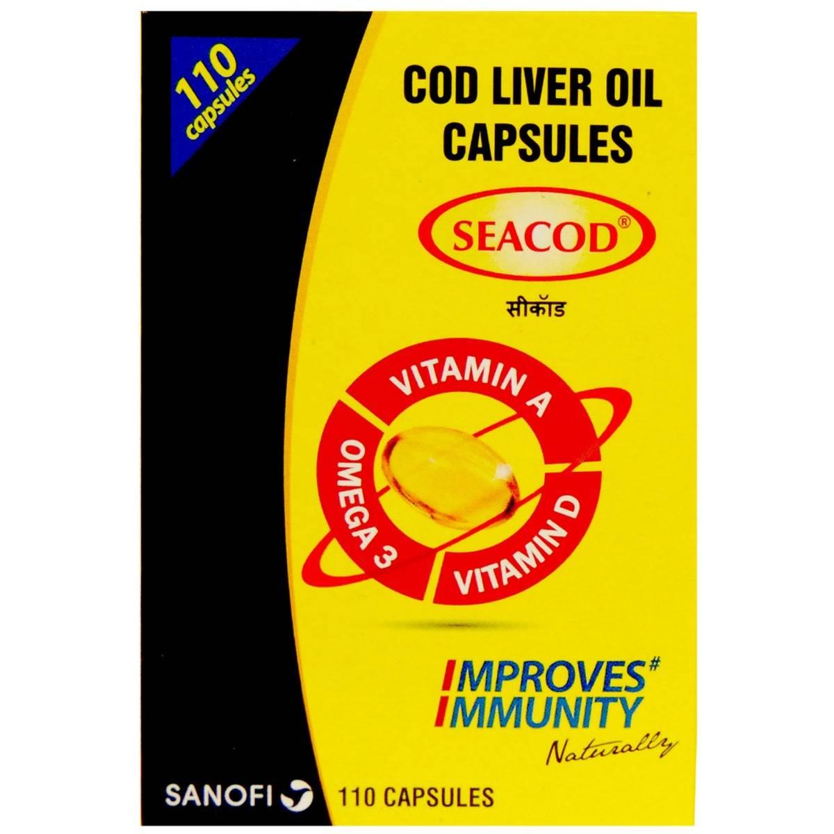 Seacod Cod Liver Oil, 110 Capsules
