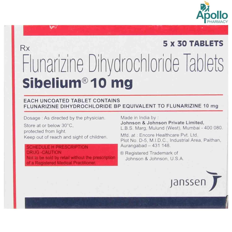 Sibelium 10 mg Tablet 30's