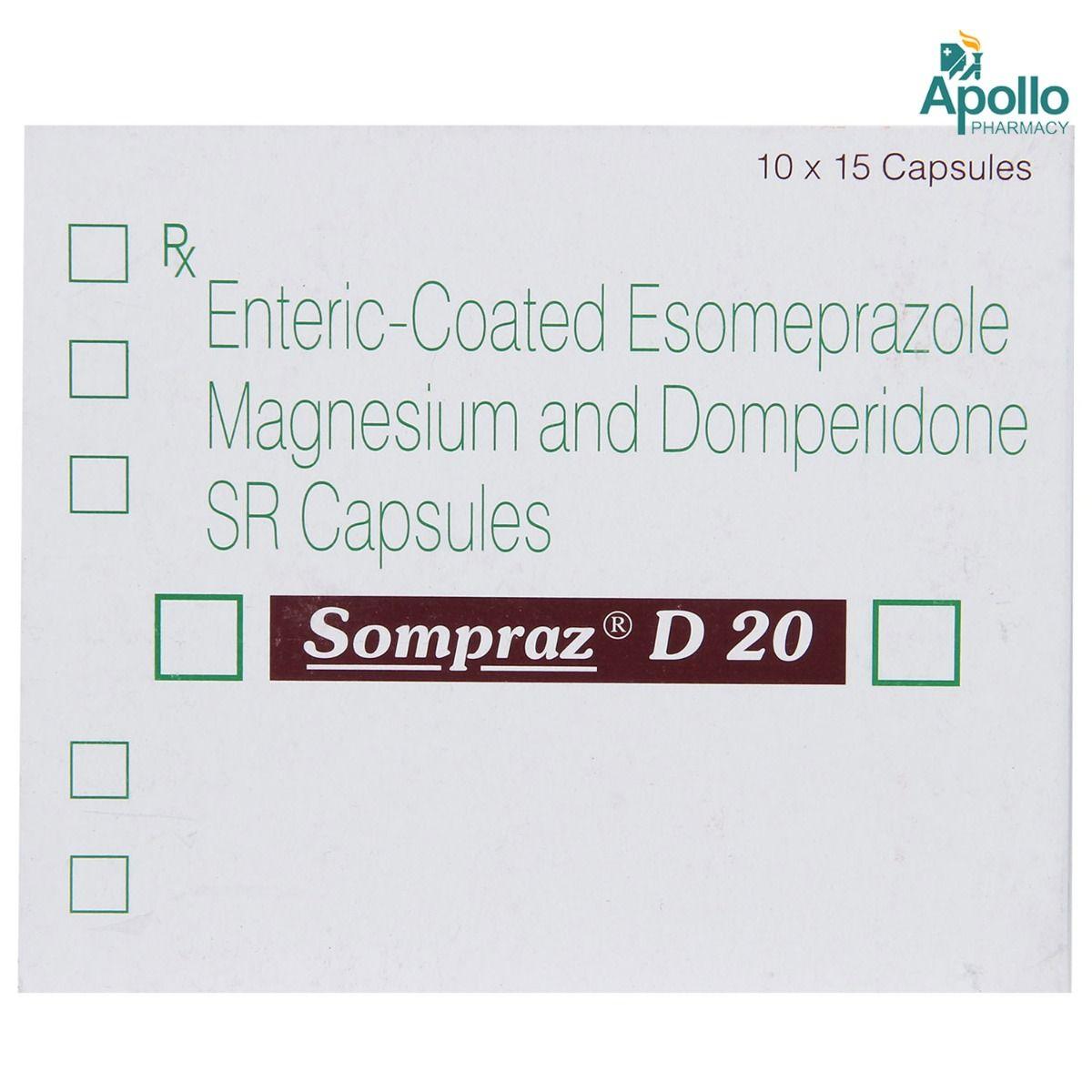 Sompraz D 20 Capsule 15's