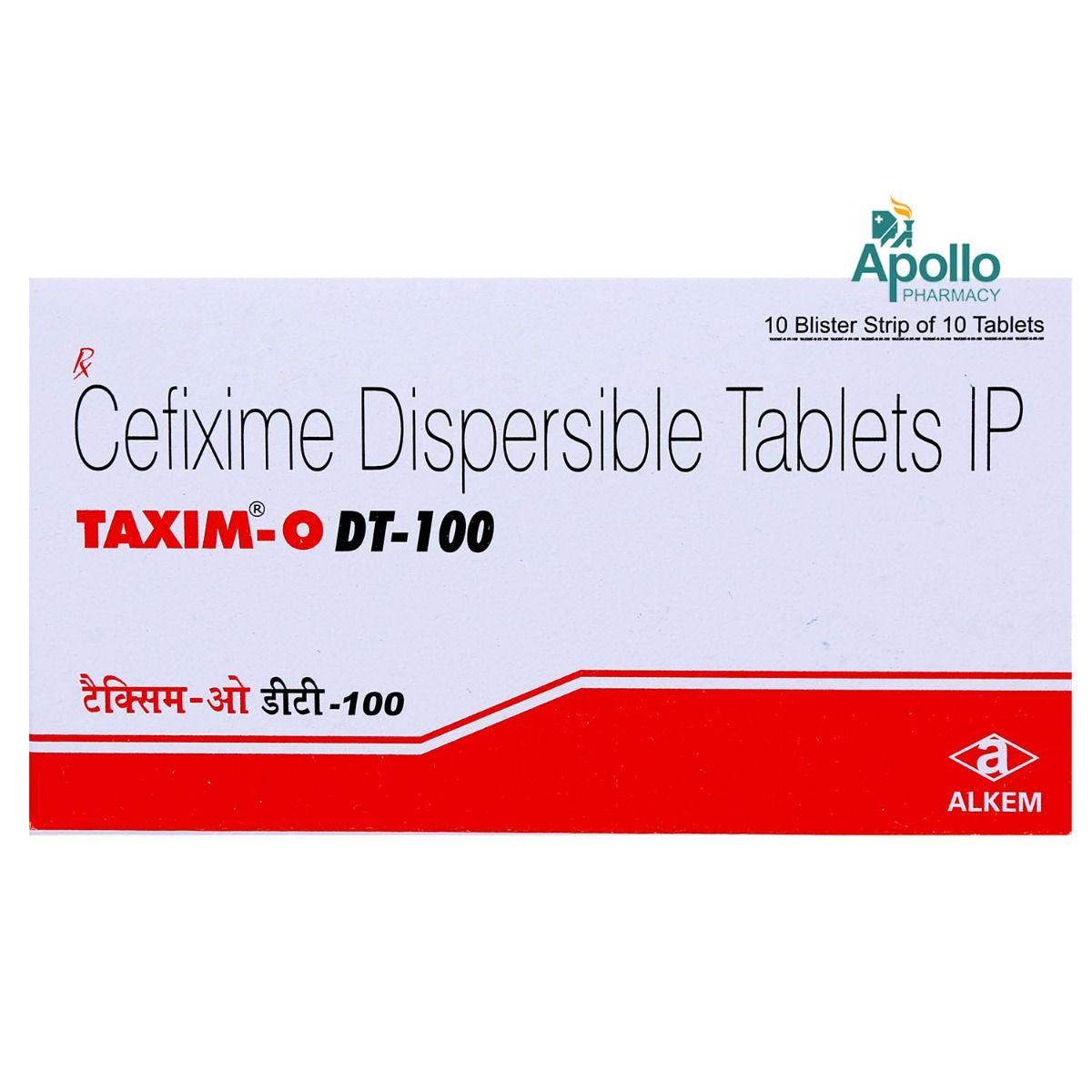 Taxim-O DT-100 Tablet 10's