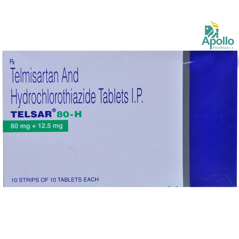 Telsar 80-H Tablet 10's