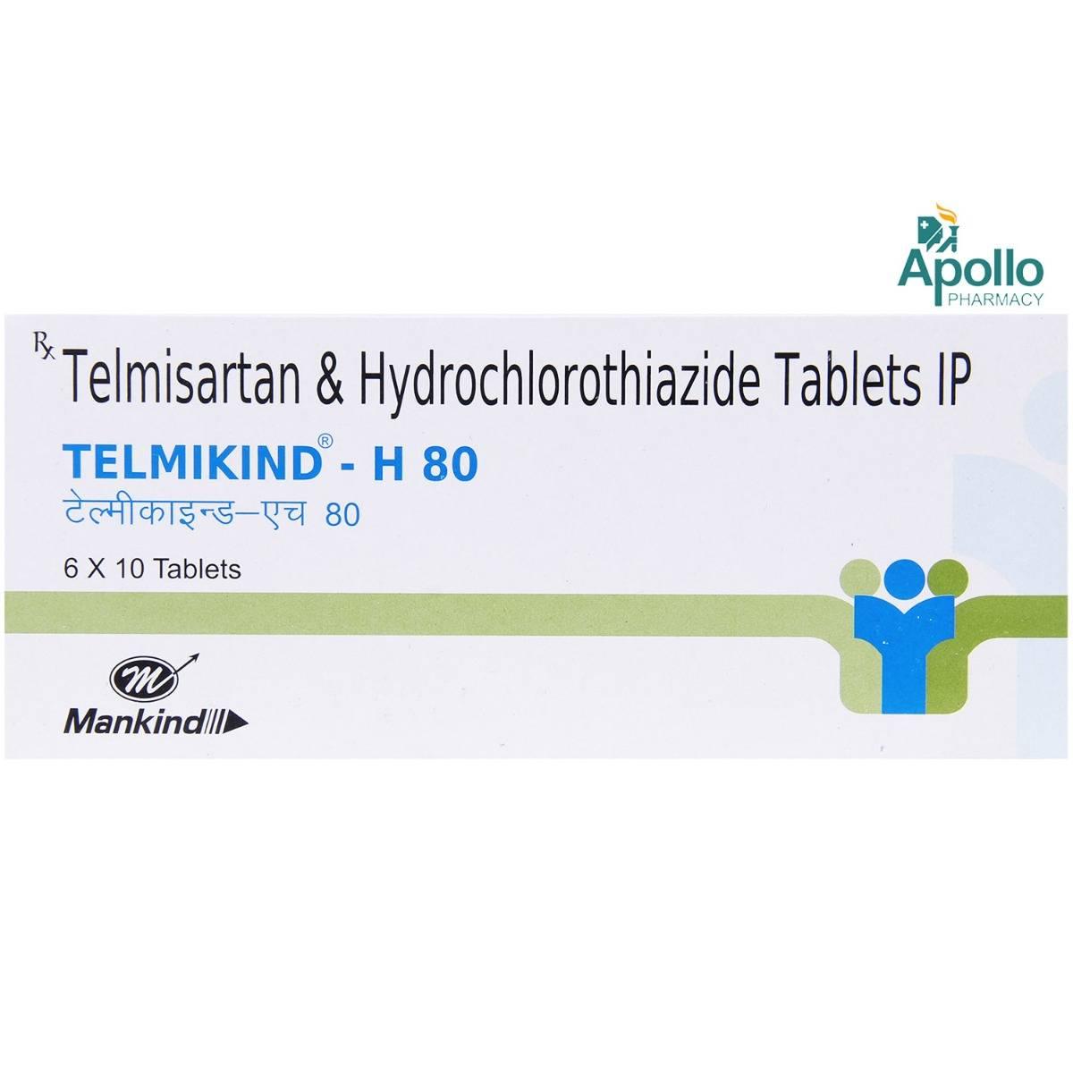 Telmikind-H 80 Tablet 10's