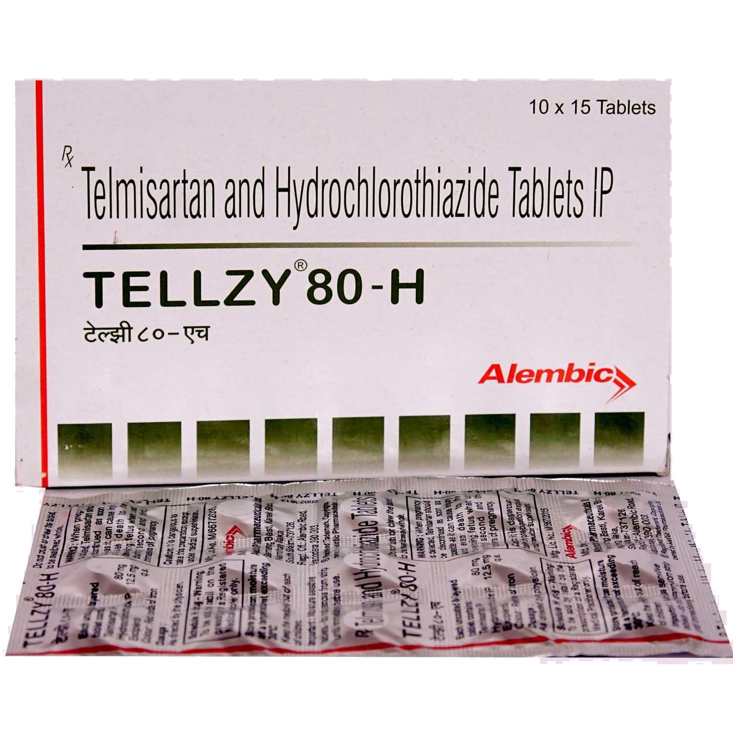 Tellzy 80-H Tablet 15's