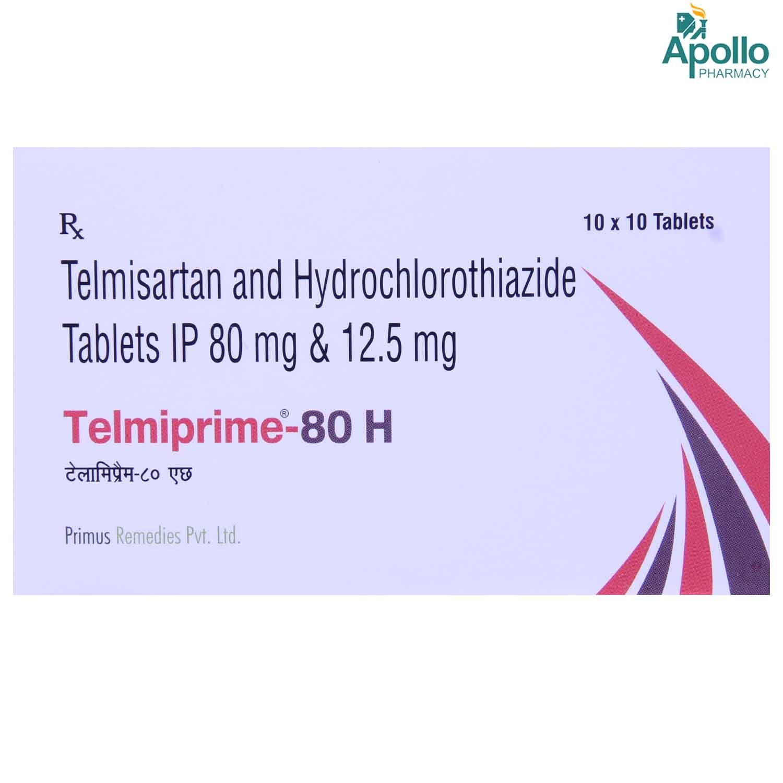 Telmiprime-80 H Tablet 10's