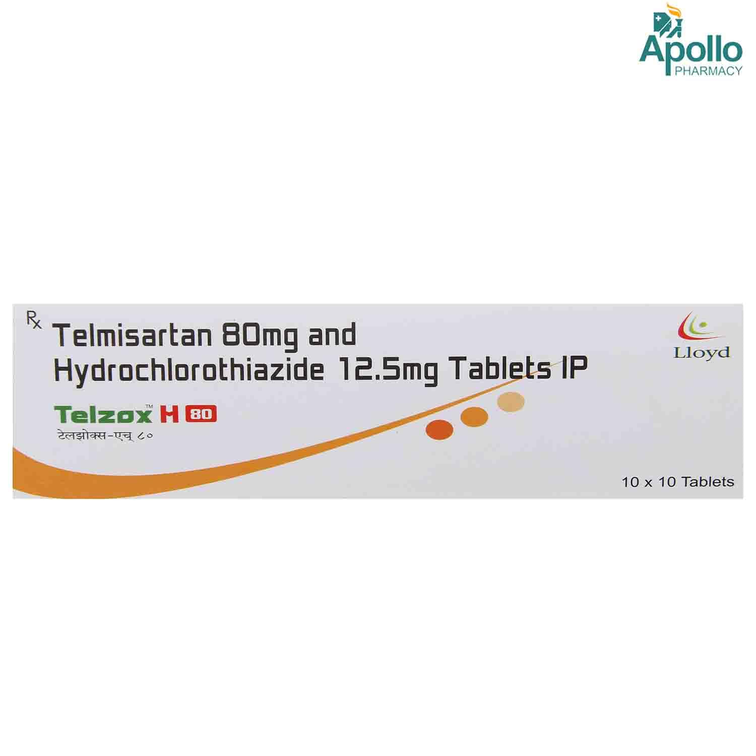 TELZOX H 80MG TABLET
