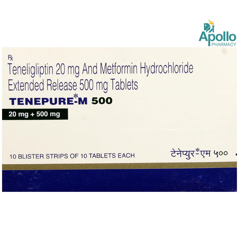 Tenepure-M 500 Tablet 10's