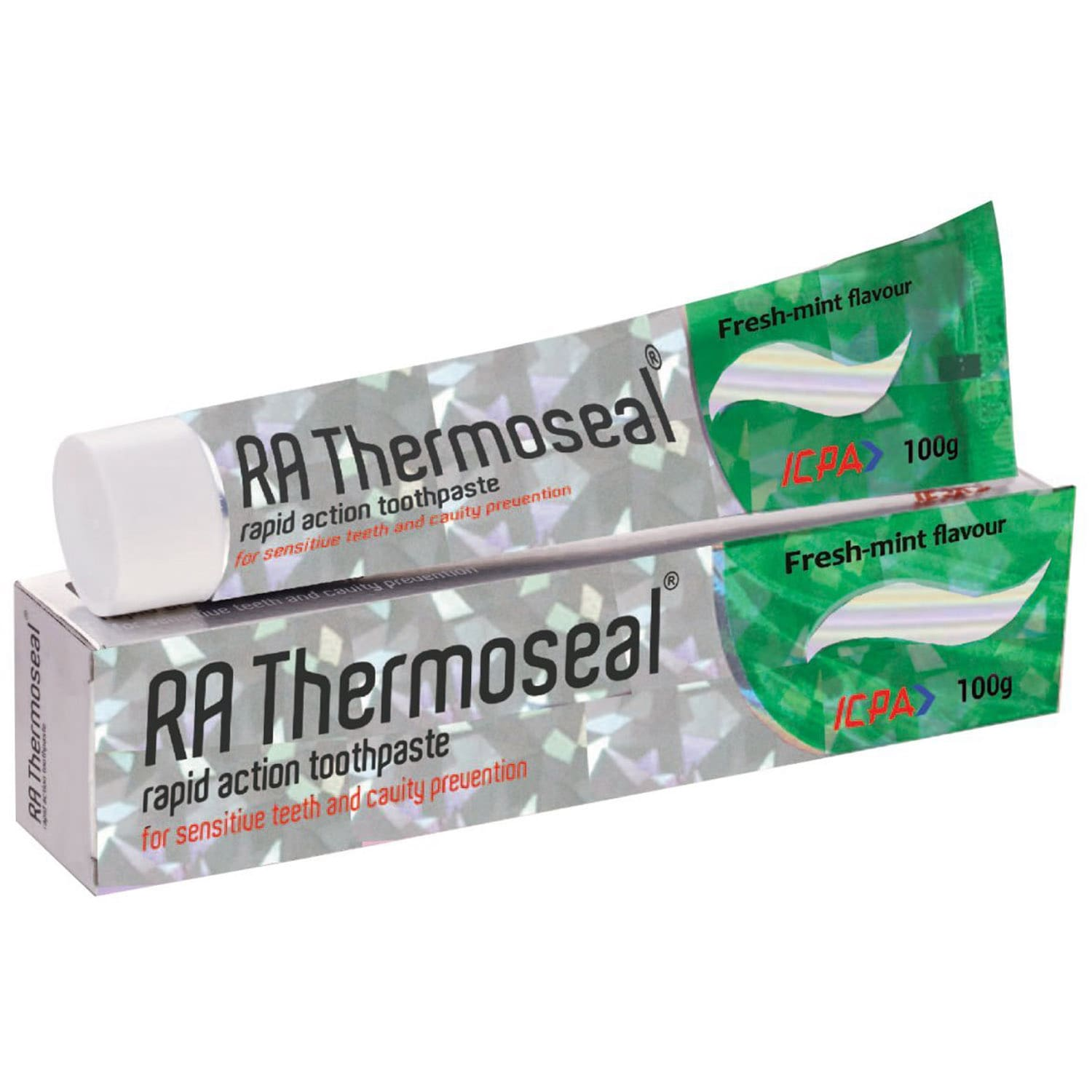 RA Thermoseal Rapid Action Mint Flavoured Sensitive Teeth & Cavity Protection Toothpaste, 100 gm