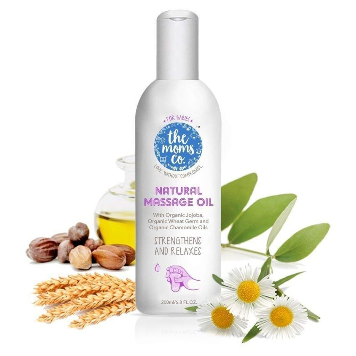 The Moms Co. Natural Massage Oil, 200 ml