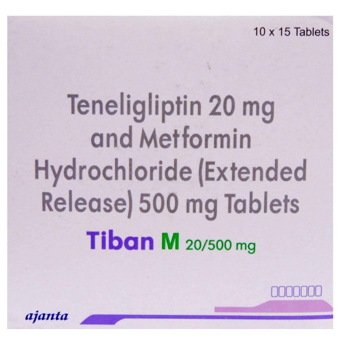 TIBAN M 20/500MG ER TABLET 15'S