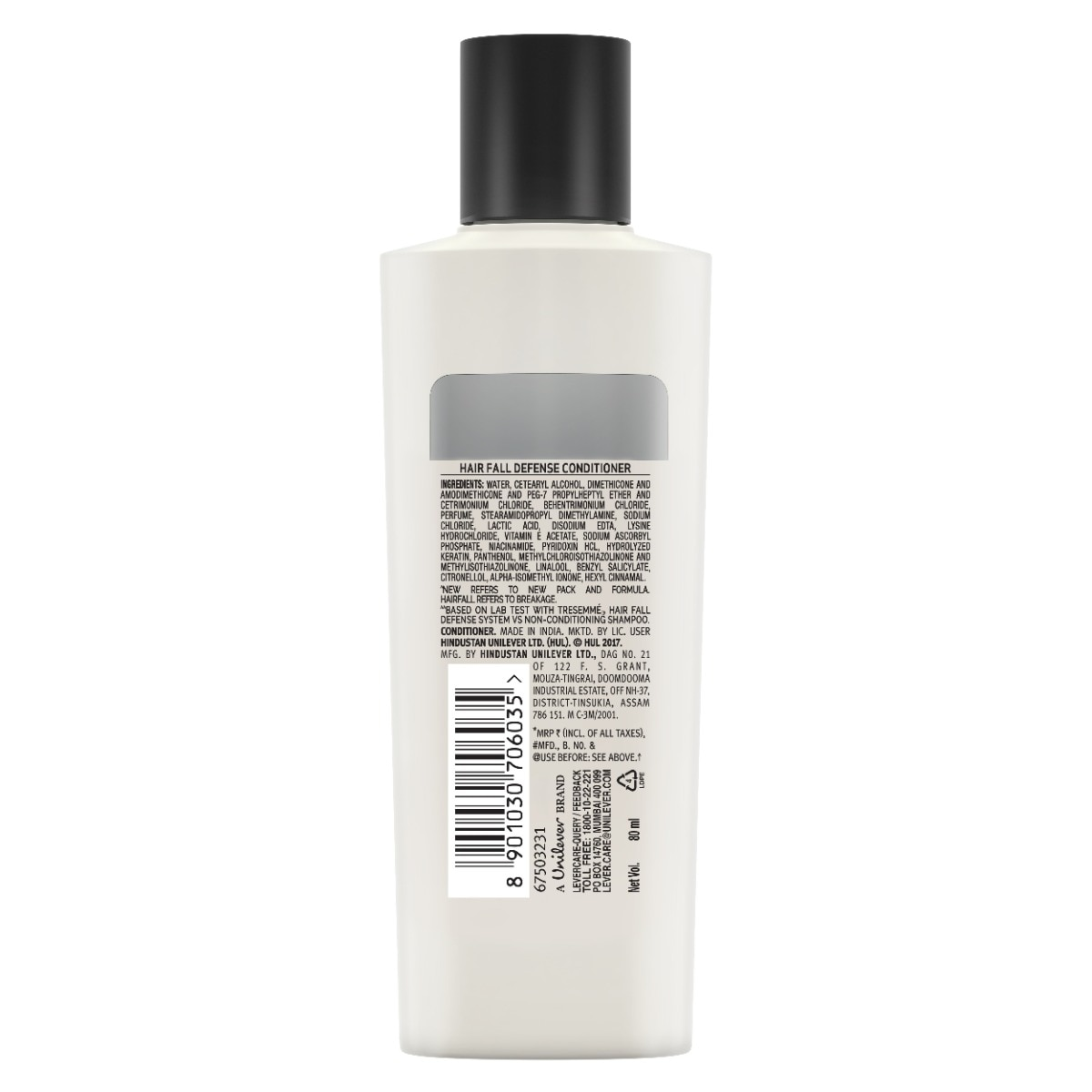 Tresemme Hair Fall Defense Conditioner, 80 ml