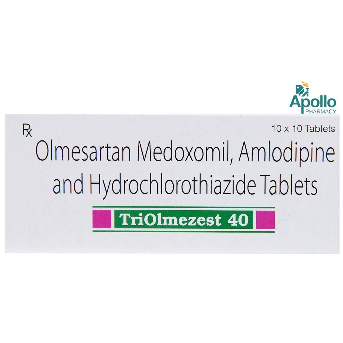 Triolmezest 40 Tablet 10's