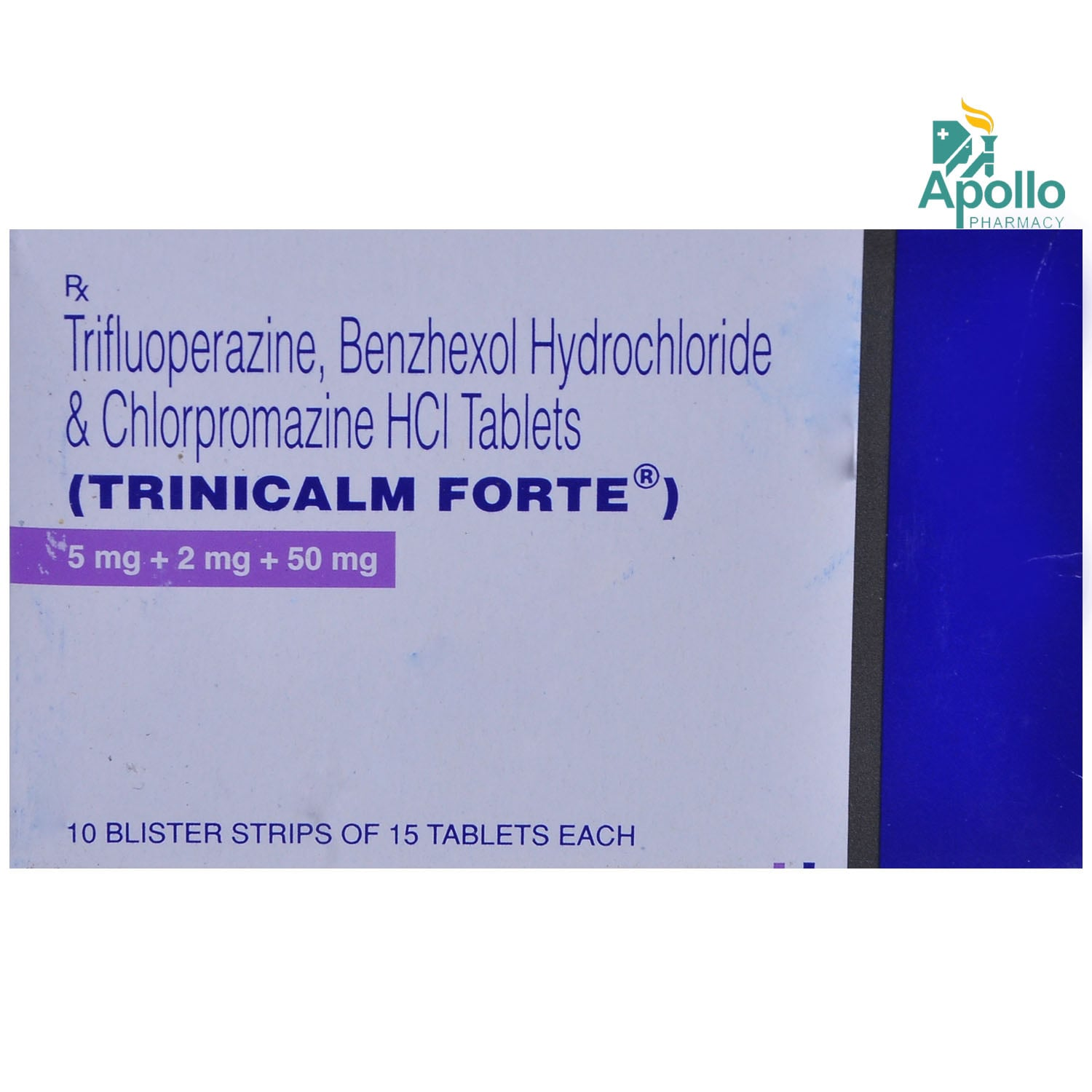 Trinicalm Forte 5/2/50mg Tablet 15s