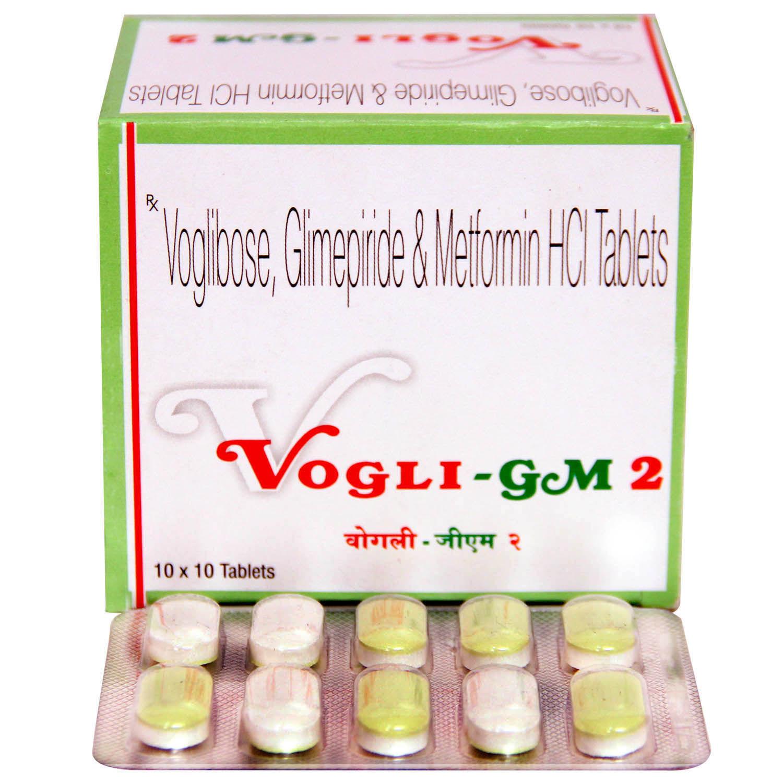 Vogli-GM 2mg Tablet 10's