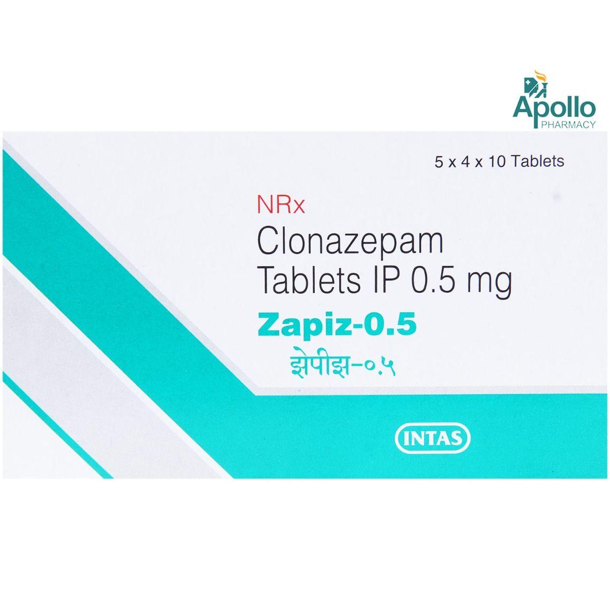 Zapiz 0.5mg Tablet 10's