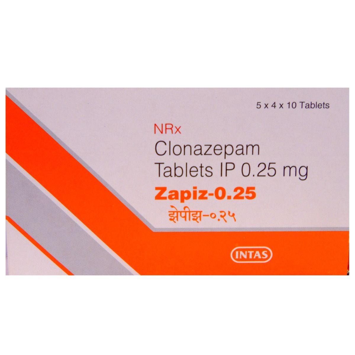 Zapiz-0.25 Tablet 10's
