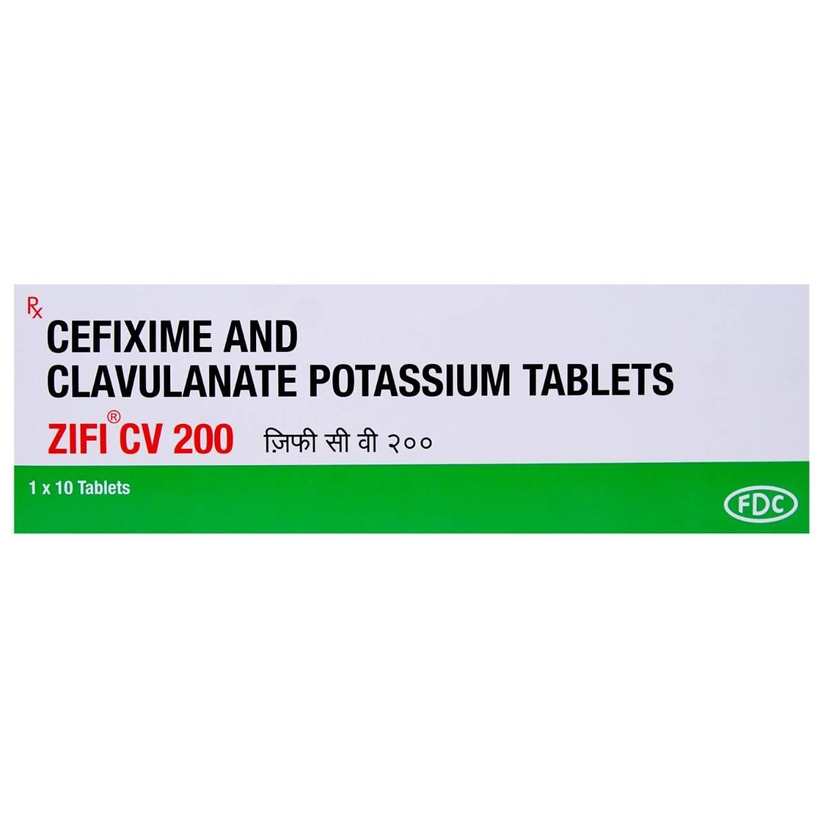 Zifi CV 200mg Tablet 10's