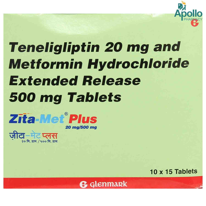 Zita Met Plus 20/500 Tablet 15's